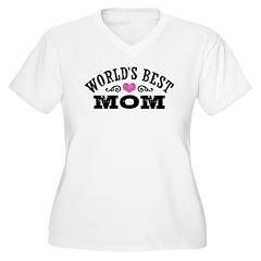 World's Best Mom Women's Plus Size V-Neck T-Shirt