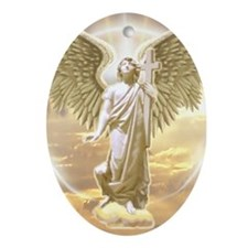 Archangel Gabriel Ornament (Oval)