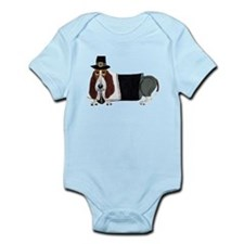Basset Hound Thanksgiving Pilgrim Infant Bodysuit