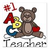 Teacher Square Car Magnet 3&quot; x 3&quot;