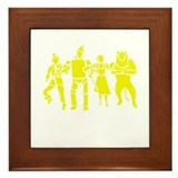 Wizard of Oz Stencil Art Framed Tile