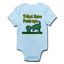 T-Rex hates push-ups Infant Bodysuit