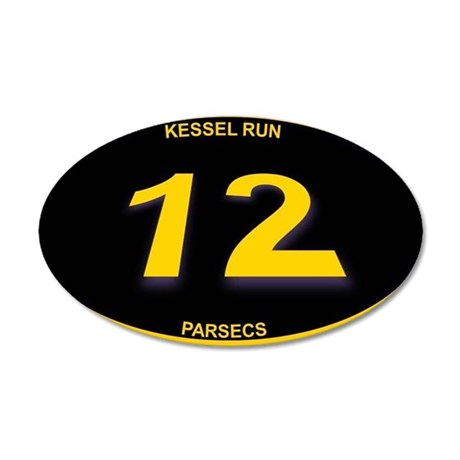 Kessel Run 12 Parsecs 20x12 Oval Wall Decal