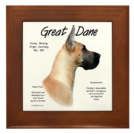 Fawn Great Dane Framed Tile