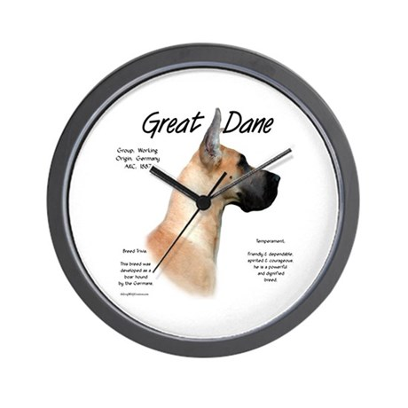 Fawn Great Dane Wall Clock