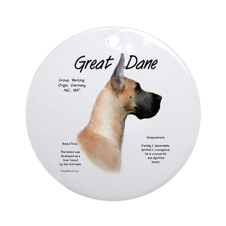 Fawn Great Dane Ornament (Round)