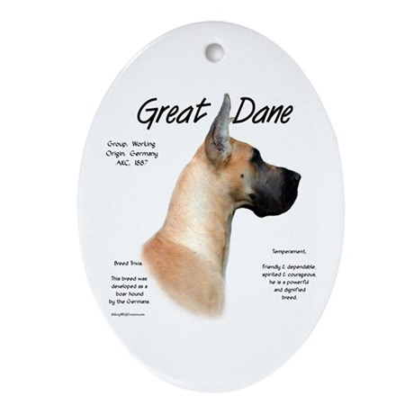 Fawn Great Dane Oval Ornament