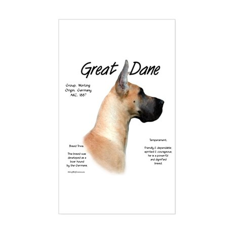 Fawn Great Dane Rectangle Sticker