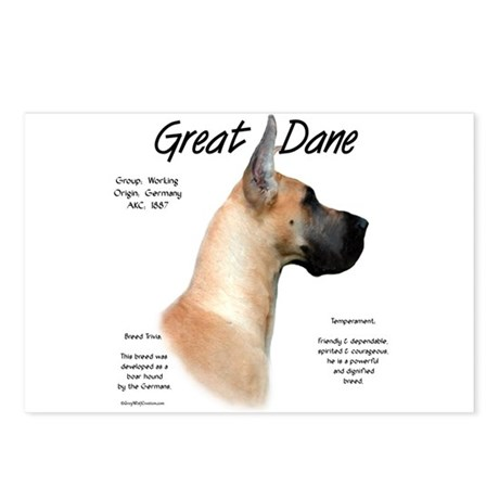 Fawn Great Dane Postcards (Package of 8)