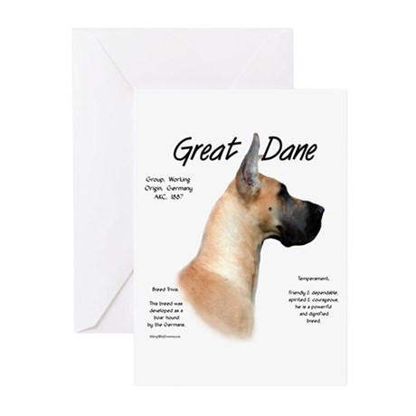 Fawn Great Dane Greeting Cards (Pk of 10)
