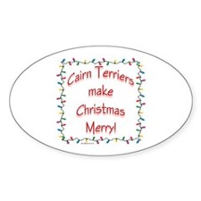 Merry Cairn Oval Decal