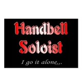 Handbell Soloist Black Postcards (Package of 8)