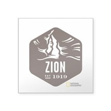 "Zion Square Sticker 3"" x 3"""
