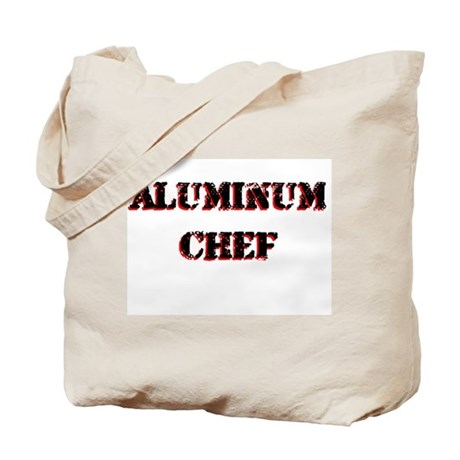 Aluminum Chef Iron Parody TV Tote Bag