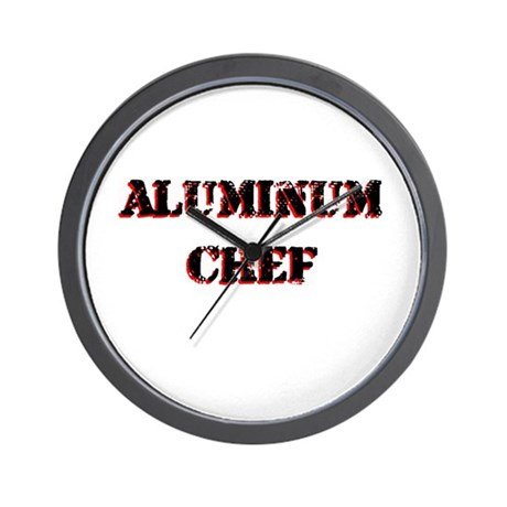 Aluminum Chef Iron Parody TV Wall Clock
