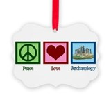 Peace Love Archaeology Ornament