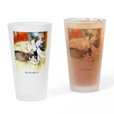 Big Dog and Puppy Drinking Glass