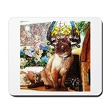 Tonkinese under Tiffany Lamp Mousepad