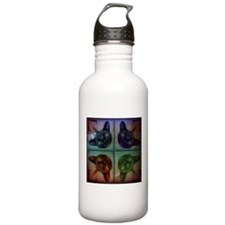 Mirrored cat image 9 Water Bottle