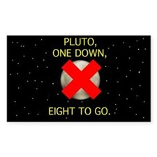 Pluto: one down, eight to go sticker
