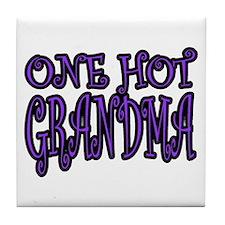 One Hot Grandma Tile Coaster