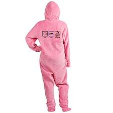 Eat Sleep Breastfeed Footed Pajamas