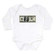100 Dollar Bill Onesie Romper Suit