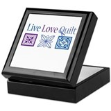 Live Love Quilt Keepsake Box