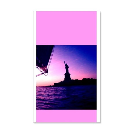 Statue of Liberty Sail NYC Pink 20x12 Wall Decals