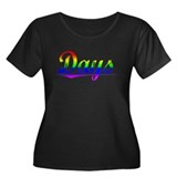 Days, Rainbow, Women's Plus Size Scoop Neck Dark T