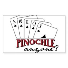 Pinochle Anyone? Stickers