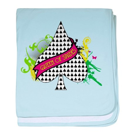 Queen of Spades baby blanket