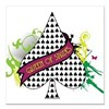 "Queen of Spades Square Car Magnet 3"" x 3"""