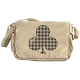 Clubs Poker Cards Messenger Bag