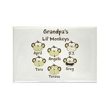 Grand kids monkeys Rectangle Magnet