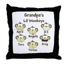 Grand kids monkeys Throw Pillow
