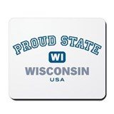 Proud State-Wisconsin: Mousepad