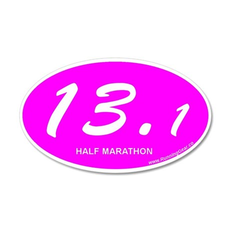 Pink Oval 13.1 Half Marathon p.png 20x12 Oval Wall