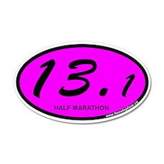 Pink Oval 13.1 Half Marathon.png 35x21 Oval Wall D