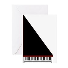 Piano #3 - Black - Greeting Cards (Pk of 10)
