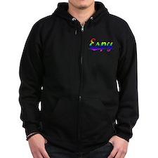 Espy, Rainbow, Zip Hoodie