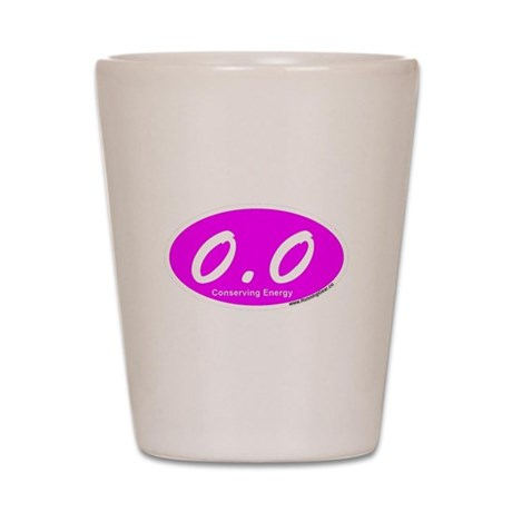 Pink Zero Point Zero Shot Glass