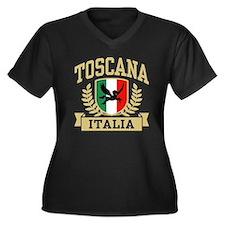 Toscana Italia Women's Plus Size V-Neck Dark T-Shi