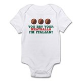 Funny Italian Meatballs Infant Bodysuit