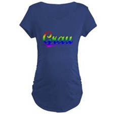 Grau, Rainbow, T-Shirt