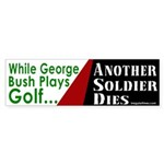 Bush plays Golf Bumper Sticker