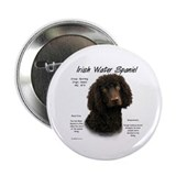 Irish Water Spaniel Button