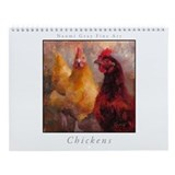 Chicken Painting Wall Calendar