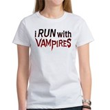 I Run With Vampires Tee