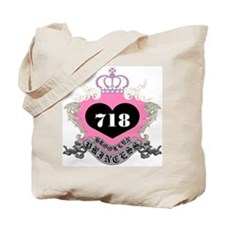 """BROOKLYN PRINCESS 718"" Tote Bag"